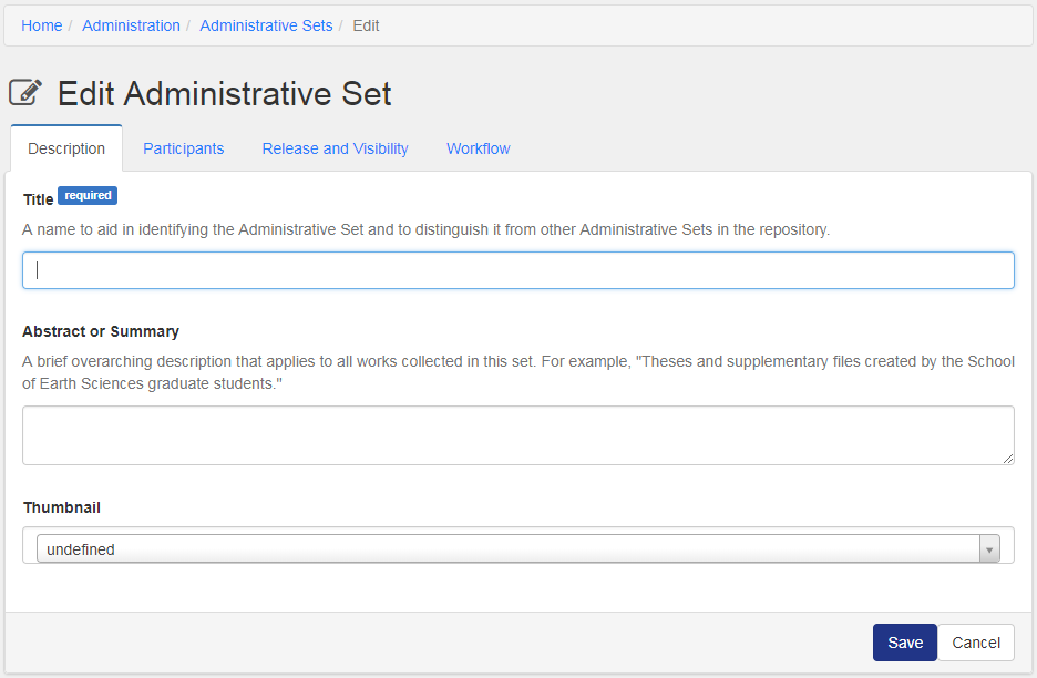 administrative sets hyrax developer knowledge base edit admin set
